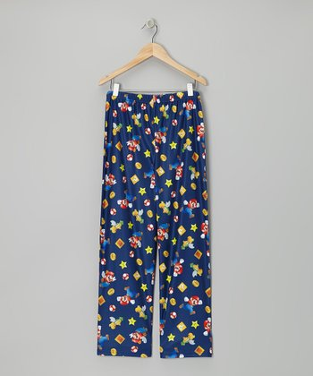 Blue Mario Bros. Pajama Pants - Kids