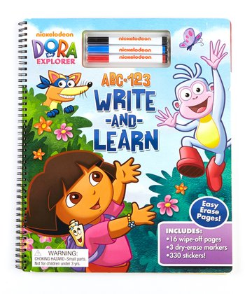 Dora the Explorer ABC, 123 Write & Learn Spiral-Bound Hardcover