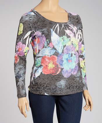 Lace Figure Sublimation Top - Plus