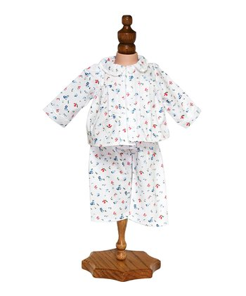 Cotton Floral Pajama Set Doll Outfit