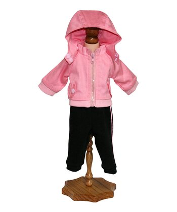 Pink Jacket & Jogging Pants Doll Outfit