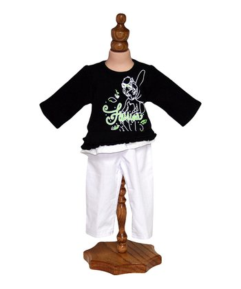 Fairies Black Top & White Pants Doll Outfit