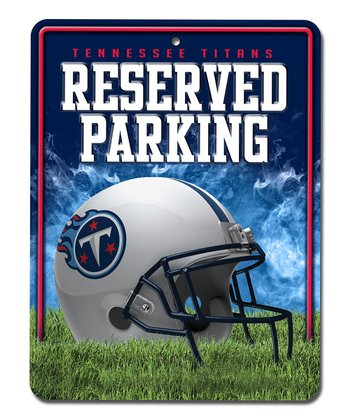 Tennessee Titans Metal Parking Sign