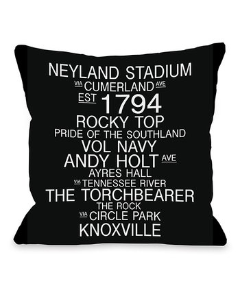 Knoxville Tennessee Landmarks Throw Pillow