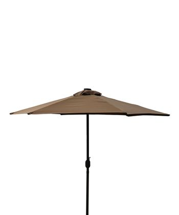 Brown Solar LED Market Umbrella