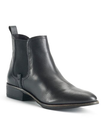 Black Leather Averly Bootie