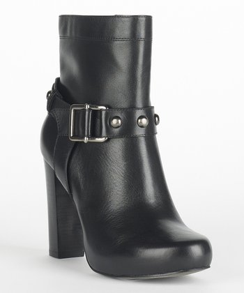 Black Leather Nancy Boot