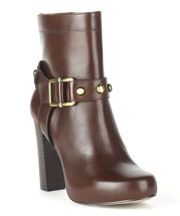 Cognac Leather Nancy Boot