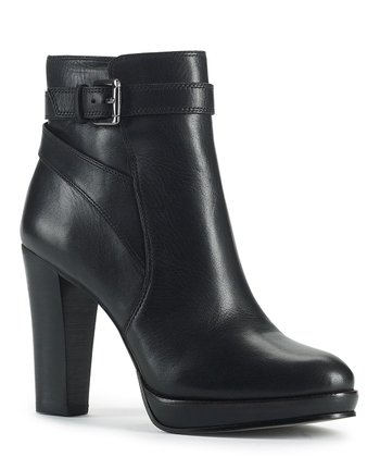 Black Leather Primo Ankle Boot