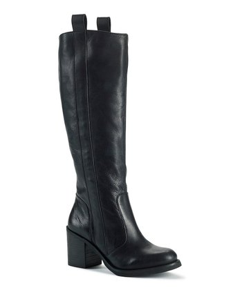 Black Leather Sam Boot