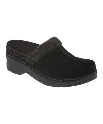 Black Suede Lodge Clog