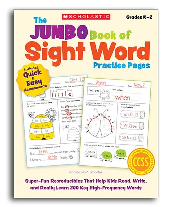 Jumbo Book of Sight Word Practice Pages Workbook