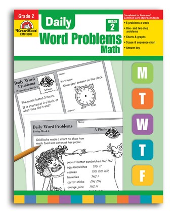 Daily Word Problems Grade 2 Workbook