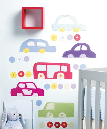 Riding Around Wall Decal Set