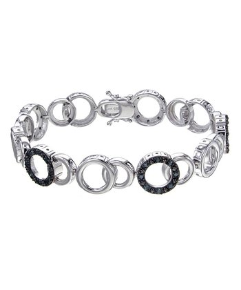 Blue Diamond Circles Bracelet