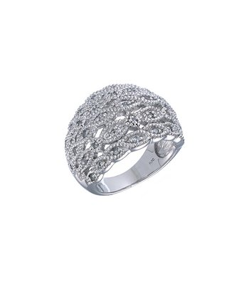 Diamond Infinite Wave Ring