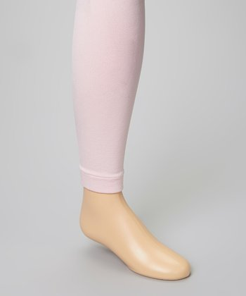 Pink Fleece-Lined Footless Tights - Infant, Toddler & Girls