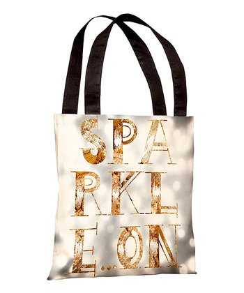Gray 'Sparkle On' Tote
