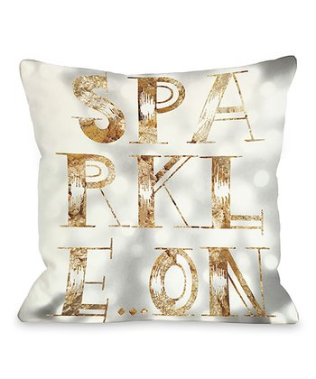 Gray 'Sparkle On' Throw Pillow