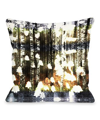 Birch Land Throw Pillow