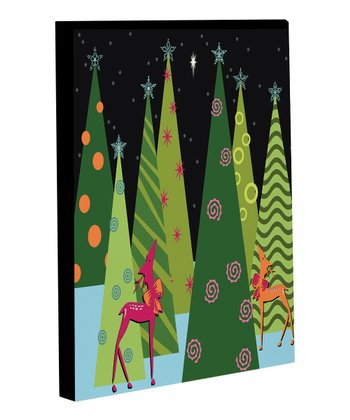 Christmas Tree Parade Canvas