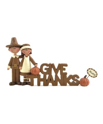 'Give Thanks Always' Pilgrim Sign