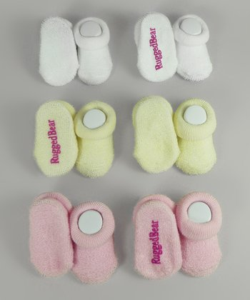 Pink & Ivory Gripper Sock Set