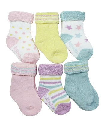 Pastel Stripe Star Sock Set