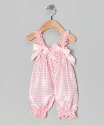 Pink Zigzag Playsuit