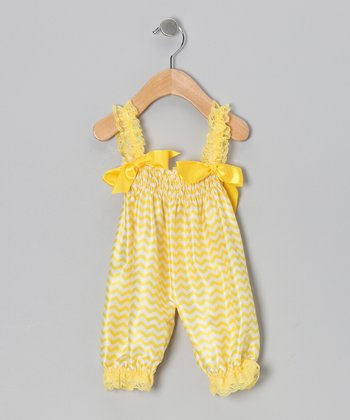 Yellow Zigzag Playsuit - Infant