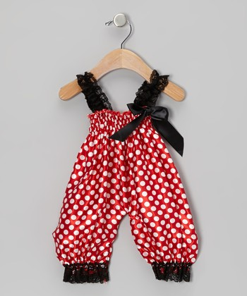 Red Polka Dot Playsuit - Infant