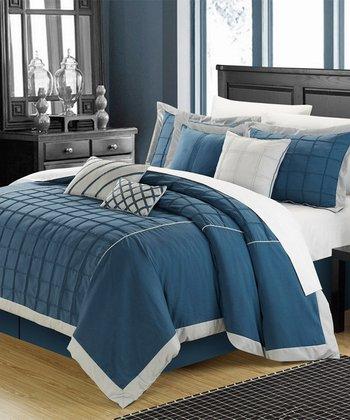 Teal Rhodes Comforter Set
