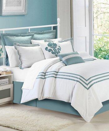 White & Sage Cosmo Comforter Set