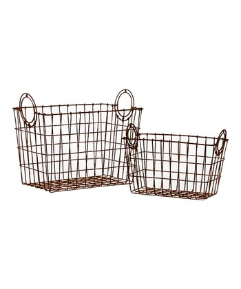 Rustic Brown Basket Set