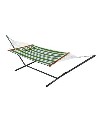 Green Santorini Double Hammock Set