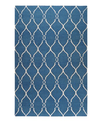 Blue & Ivory Fallon Wool Rug