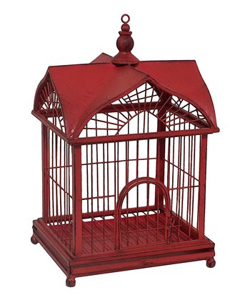 Red Decorative Bird Cage