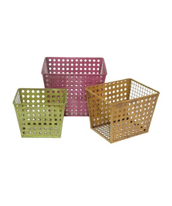 Rustic Tertiary Tall Basket Set