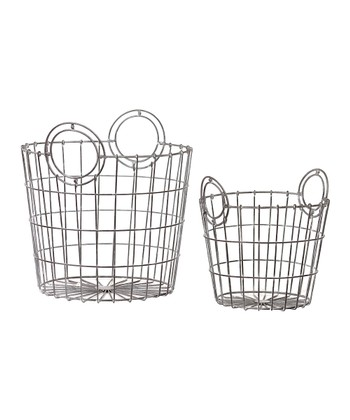 Circle Handle Wire Basket Set