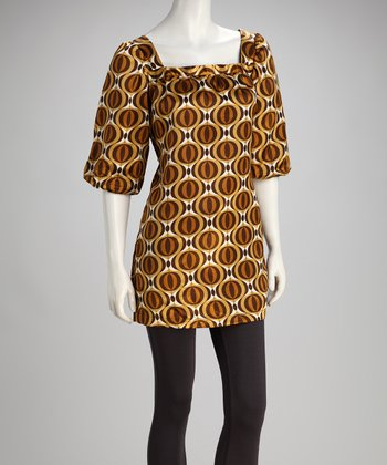 Bronze Satin Tunic