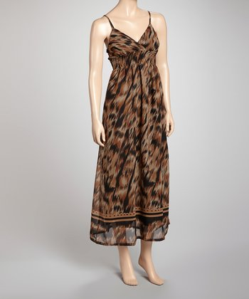 Brown & Black Maxi Dress