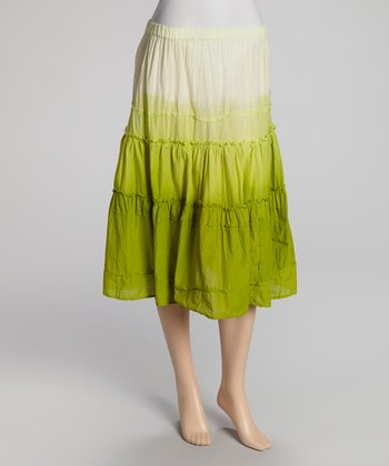 Lime Tie-Dye Skirt - Women