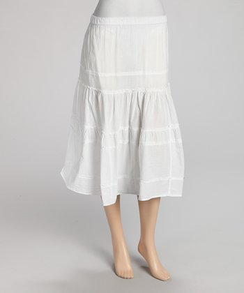 White Peasant Skirt