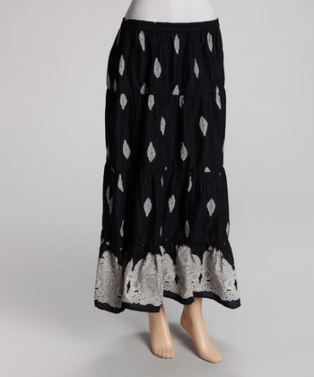 Black & White Maxi Skirt - Women