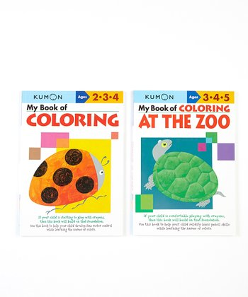 My Book of Coloring & Zoo Fun Workbook Set