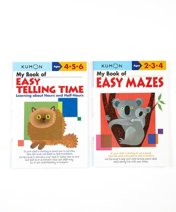 My Book of Easy Telling Time & Mazes Workbook Set