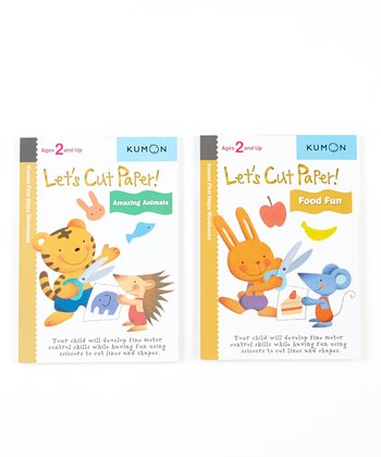 Let's Cut Paper Animals & Food Workbook Set