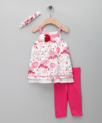Fuchsia Floral Dress Set - Infant