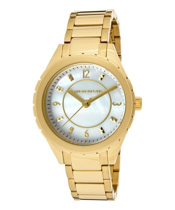 White & Gold Mother-Of-Pearl Stainless Steel Watch