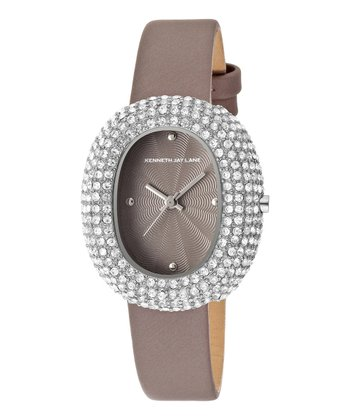 Gray & Silver Hematite Satin Watch